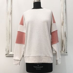 AE Amazingly Soft Color Block Boyfriend Sweater